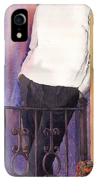 Violet iPhone XR Case - Spenser 01 by Yuriy Shevchuk
