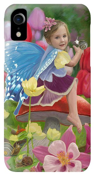 Fairy iPhone XR Case - Spring Fairy by Lucie Bilodeau