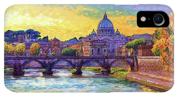 Violet iPhone XR Case - St Angelo Bridge Ponte St Angelo Rome by Jane Small