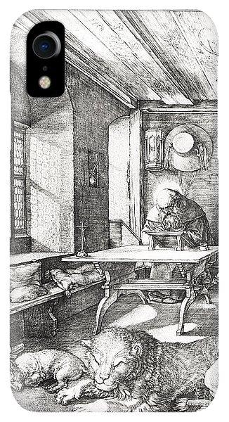 Albrecht Durer iPhone XR Case - St Jerome In His Study by Albrecht Durer or Duerer
