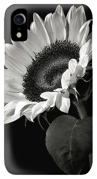 iPhone XR Case - Sunflower In Black And White by Endre Balogh