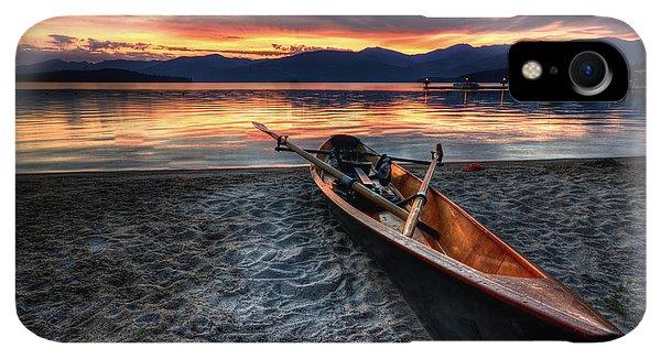 Boats iPhone XR Case - Sunrise Boat by Matt Hanson