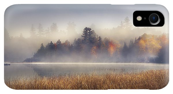 Boats iPhone XR Case - Sunrise In Lake Placid  by Magda  Bognar
