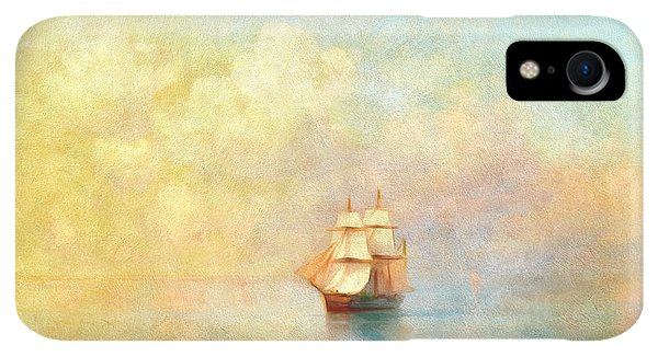 Boats iPhone XR Case - Sunrise On The Sea by Isabella Howard