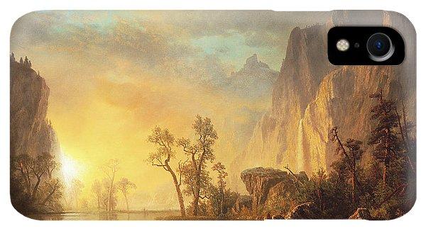 Rocky Mountain iPhone XR Case - Sunset In The Rockies by Albert Bierstadt