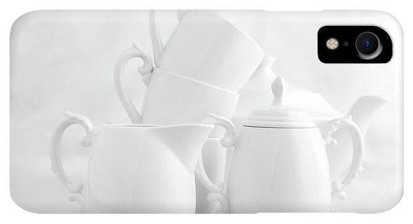 Kettles iPhone XR Case - Tea For Three In White by Tom Mc Nemar