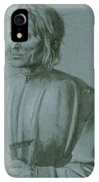 Albrecht Durer iPhone XR Case - The Architect Hieronymus Von Augsburg by Albrecht Durer