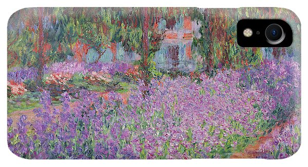Violet iPhone XR Case - The Artists Garden At Giverny by Claude Monet