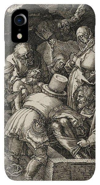 Albrecht Durer iPhone XR Case - The Entombment  by Albrecht Durer
