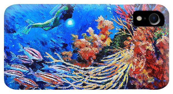 Scuba Diving iPhone XR Case - The Flow Of Creation by John Lautermilch