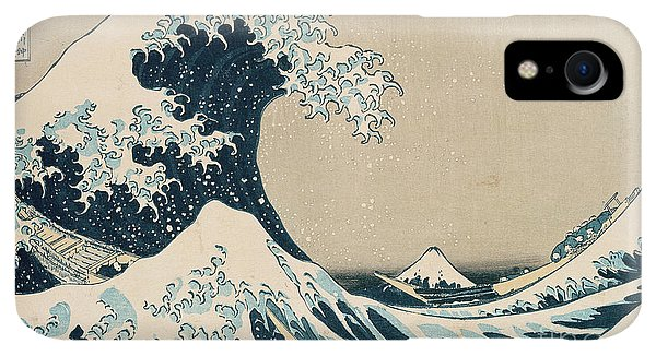 Print iPhone XR Case - The Great Wave Of Kanagawa by Hokusai
