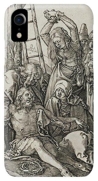 Albrecht Durer iPhone XR Case - The Lamentation by Albrecht Durer