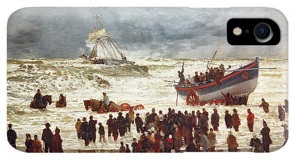 Boats iPhone XR Case - The Lifeboat by William Lionel Wyllie