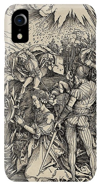 Albrecht Durer iPhone XR Case - The Martyrdom Of St. Catherine Of Alexandria by Albrecht Durer