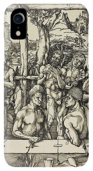 Albrecht Durer iPhone XR Case - The Men's Bath by Albrecht Durer