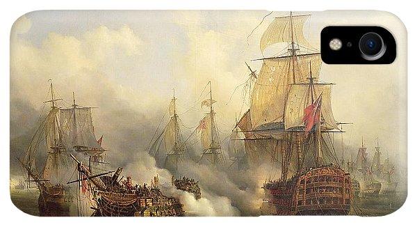 Boats iPhone XR Case - Unknown Title Sea Battle by Auguste Etienne Francois Mayer