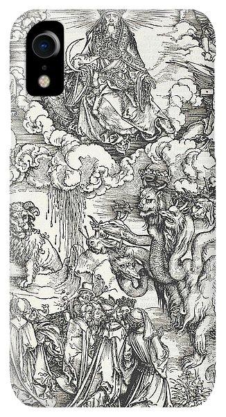 Albrecht Durer iPhone XR Case - The Seven-headed Beast And The Beast With Lamb's Horns by Albrecht Durer