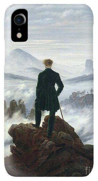Rocky Mountain iPhone XR Case - The Wanderer Above The Sea Of Fog by Caspar David Friedrich