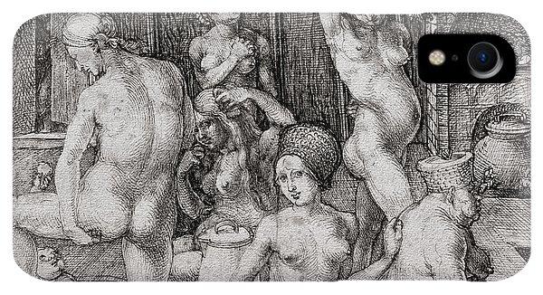 Albrecht Durer iPhone XR Case - The Women's Bath, 1496 by Albrecht Durer