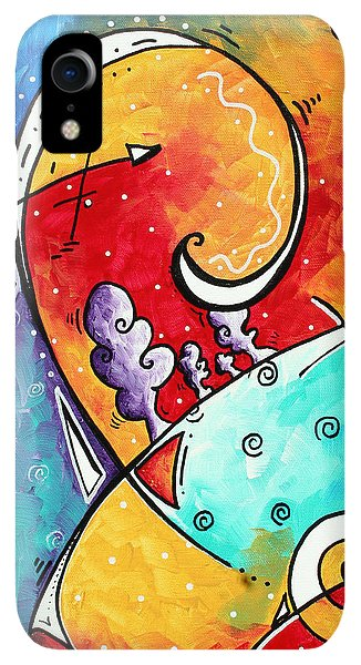 Violet iPhone XR Case - Tickle My Fancy Original Whimsical Painting by Megan Duncanson