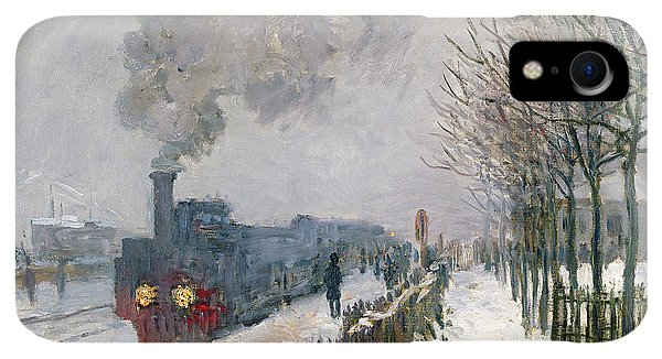 20th iPhone XR Case - Train In The Snow Or The Locomotive by Claude Monet