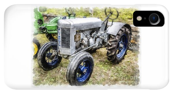 Etna iPhone XR Case - Vintage 1930 Plymouth Tractor by Edward Fielding