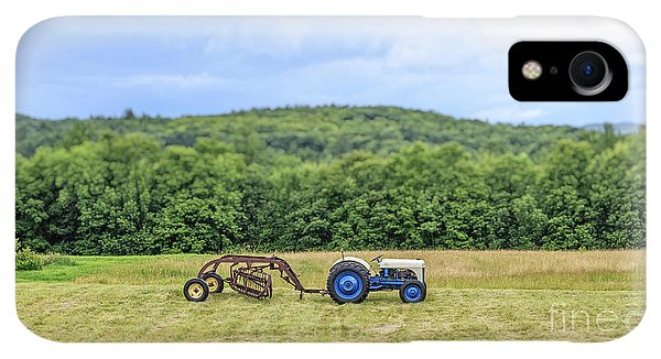 Etna iPhone XR Case - Vintage Ford Tractor Tilt Shift by Edward Fielding