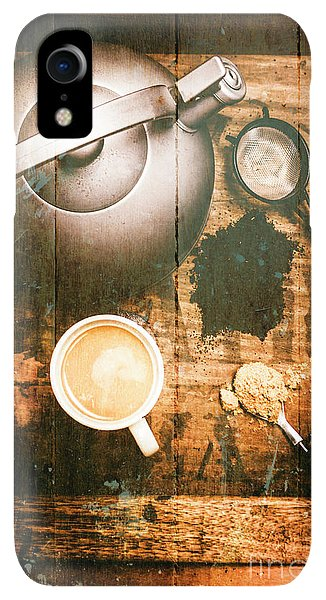 Kettles iPhone XR Case - Vintage Tea Crate Cafe Art by Jorgo Photography - Wall Art Gallery