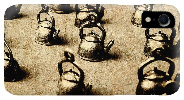 Kettles iPhone XR Case - Vintage Teapot Party by Jorgo Photography - Wall Art Gallery