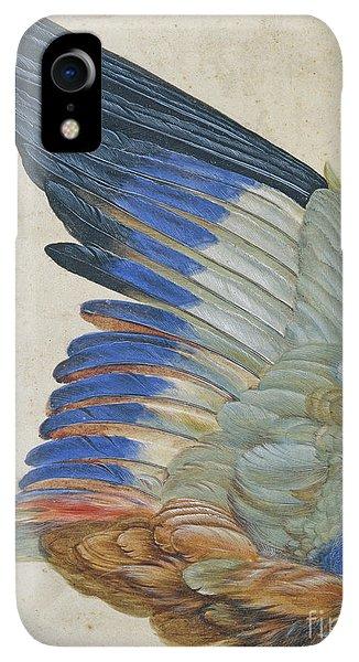 Albrecht Durer iPhone XR Case - Wing Of A Blue Roller by Hans Hoffmann