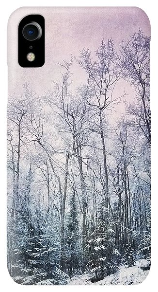 Winter iPhone XR Case - Winter Forest by Priska Wettstein