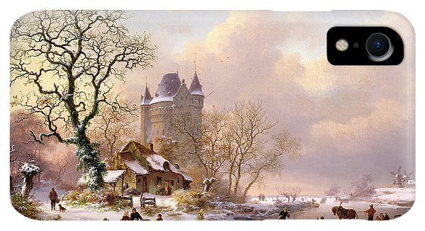20th iPhone XR Case - Winter Landscape With Castle by Frederick Marianus Kruseman