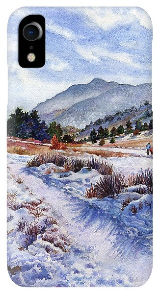 Rocky Mountain iPhone XR Case - Winter Wonderland by Anne Gifford