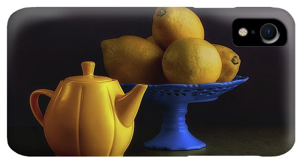Kettles iPhone XR Case - Yellow And Blue Still Life by Tom Mc Nemar