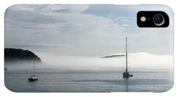 Dick Goodman iPhone XR Case - Morning Mist On Frenchman's Bay by Dick Goodman