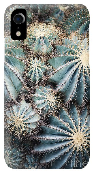 Small iPhone XR Case - Rustic Macro Shot Of Cactus - Tropical by Naturephotography