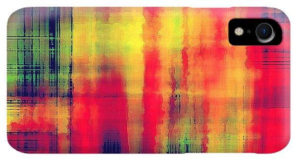 Space iPhone XR Case - Art Abstract Geometric Pattern by Irina qqq