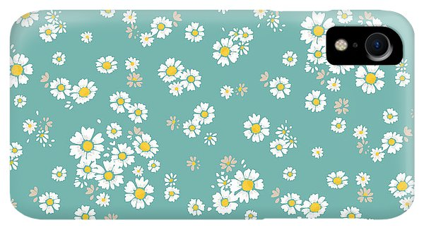 Small iPhone XR Case - Beautiful Ditsy Floral Seamless by Indipixi