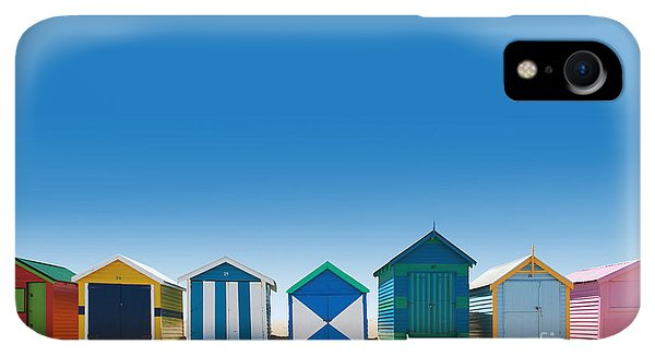 Small iPhone XR Case - Beautiful Small Bathing Houses On White by Creativa Images