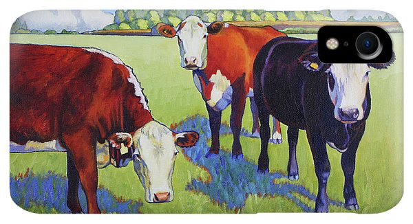 Whidbey iPhone XR Case - Bovine Buddies by Stacey Neumiller