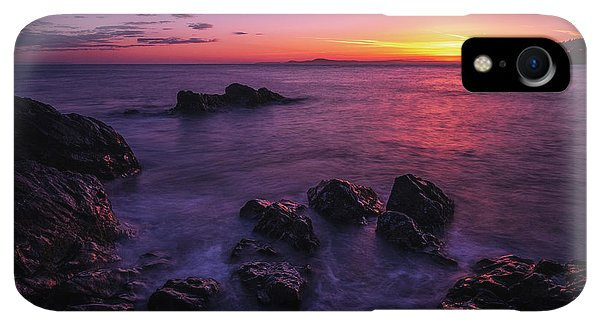Whidbey iPhone XR Case - Coastal Last Light On The Rocks by Mike Reid