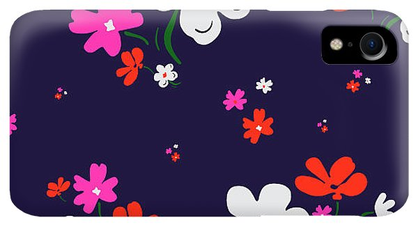 Small iPhone XR Case - Cute Floral Pattern In Vector by Workingpens