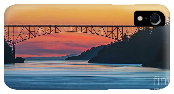 Whidbey iPhone XR Case - Deception Pass Bridge Evening Colors by Mike Reid