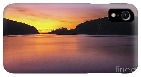 Whidbey iPhone XR Case - Deception Pass Sunset Serenity by Mike Reid