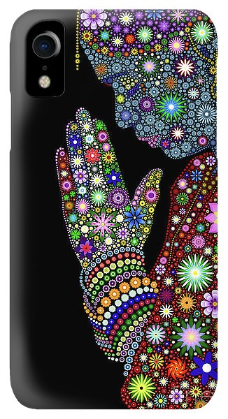 Spirituality iPhone XR Case - Flower Prayer Girl by Tim Gainey