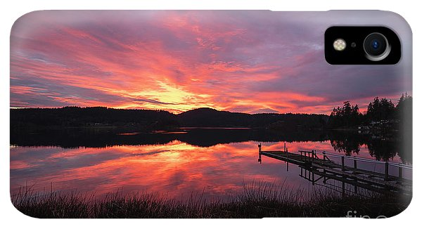 Whidbey iPhone XR Case - Lakeside Sunset Reflection Serenity by Mike Reid
