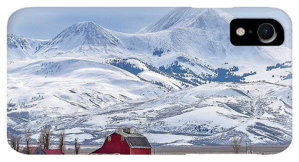 Rocky Mountain iPhone XR Case - Montana Farm Dwarfed By Tall Mountains by Mh Anderson Photography