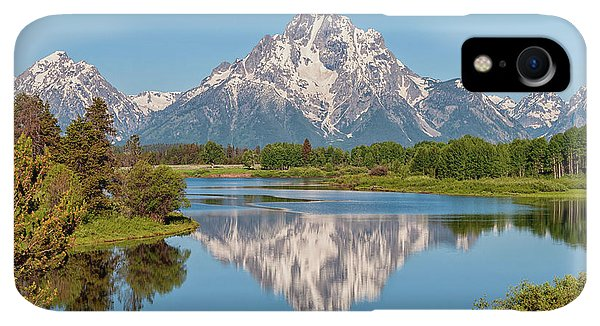 Rocky Mountain iPhone XR Case - Mount Moran On Snake River Landscape by Brian Harig