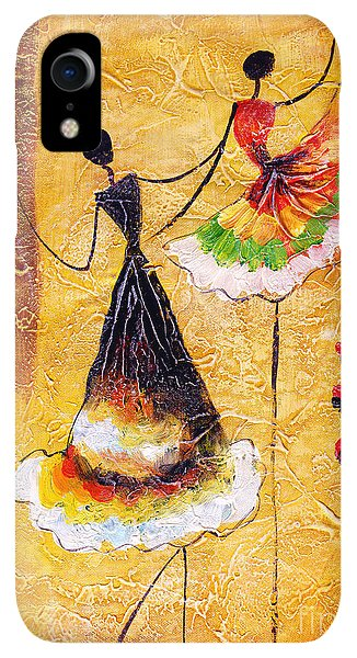 Small iPhone XR Case - Oil Painting - Spanish Dance by Cyc