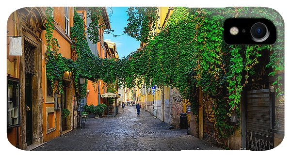 Small iPhone XR Case - Old Street At In Trastevere, Rome by Catarina Belova